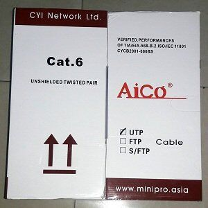 CAT 6 Aico UTP 24AW Ethernet/LAN Cable 305M