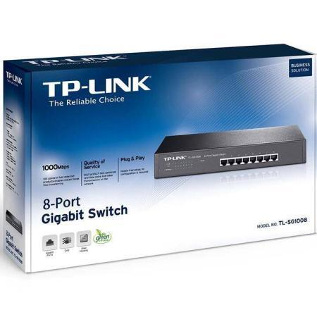 TL-SG1008PE | 8-Port Gigabit Desktop/Rackmount Switch